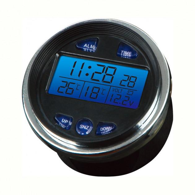 Автомобильные цифровые часы. Будильник. Термометр. Вольтметр